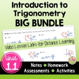 Intro to Trigonometry BIG Bundle (Algebra 2 - Unit 11)
