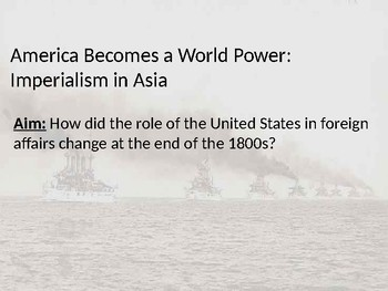 Intro to & U.S. Imperialism in Asia Boxer Rebellion Open Door Opening of Japan