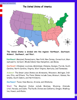 Intro. to U.S. Regions and National Parks
