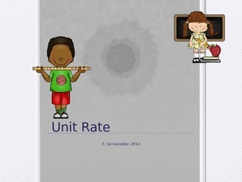 Intro to Unit Rate