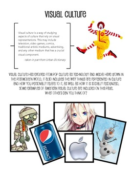 Intro to Visual Culture, Transformation in Art--Packets & PowerPoint