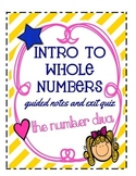 FREEBIE: Intro to Whole Numbers: Guided Notes and Exit Quiz