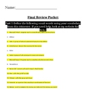 Intro to Word/Excel Review Packet