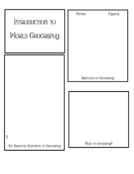 Intro to World Geography Layer Book