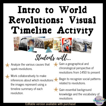 Intro to World Revolutions: Visual Timeline Activity