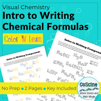 Intro To Writing Chemical Formulas