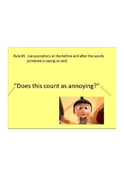 Intro to Writing Dialogue using Despicable Me Quotes