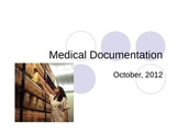 Intro. to medical documentation