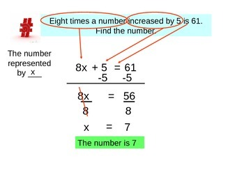 Intro to solving word problems with equations.
