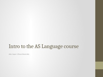 Intro to the AS Language Course
