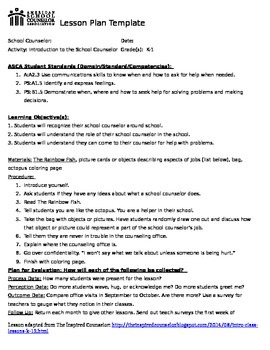 Intro to the Counselor Lesson Plan (Younger version)