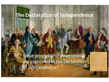 Intro to the Declaration of Independence PowerPoint