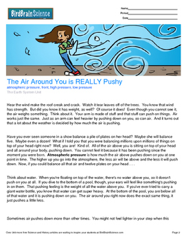 Intro to the Earth System, The Air Around You Is Really Pushy - Engaging Science