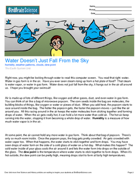 Intro to the Earth System, Water Doesn't Just Fall From th