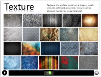 Intro to the Elements of Art (Line, shape, color, value, form, texture & space)