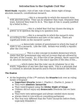 Intro to the English Civil War