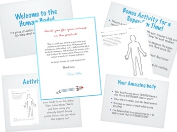 Intro to the Human Body Powerpoint or Flipped Classroom Tool - plus Activity!