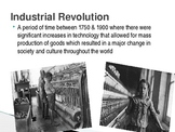 Intro to the Industrial Revolution PowerPoint