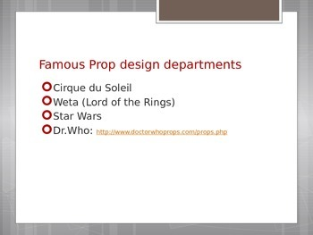 Intro to the Set and Prop Industry