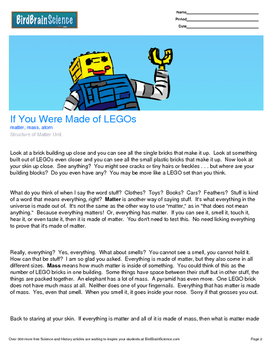 Intro to The Structure of Matter, If You Were Made of LEGOs - Engaging Science