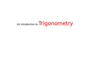 Intro to trig powerpoint