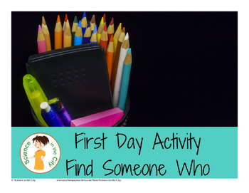 Intro/First Day Activity- Find Someone Who