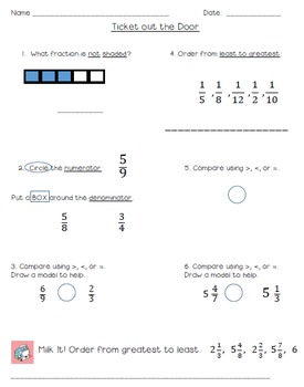 Intro/Review of Fractions and Mixed Numbers - SmartBoard Lesson Bundle!
