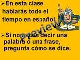 Introducción a la clase de Español