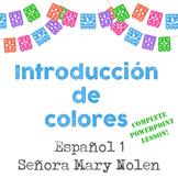 Introducción de colores- Spanish I