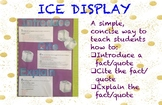ICE Bulletin Display