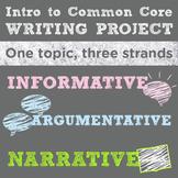 Common Core Intro to Writing Genres Mini-Unit: 1 Topic, 3 Strands