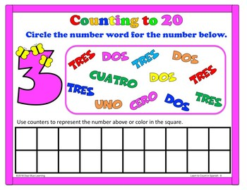 Introduce Counting from 11 to 20 in Spanish - Kindergarten