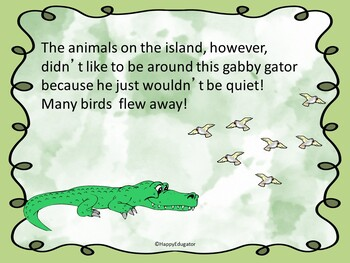 Fables - The Alligator Who Talked Too Much Fable PowerPoint