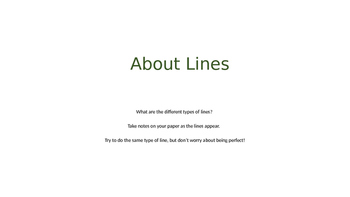 Introduce Lines to Students