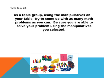 Introduce Math Manipulatives