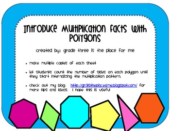 Introduce Multiplication Facts with Polygons