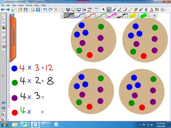 Introduce Multiplication with Groups of and Number Sentences