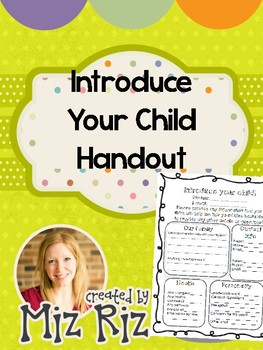 Introduce Your Child Handout