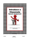 Introduce a Classmate Speech Assignment