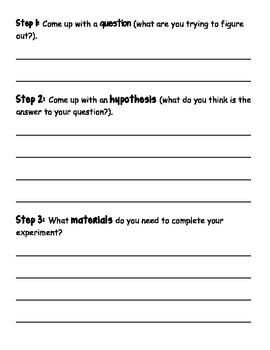 Introduce the Scientific Method (Simple Experiment)