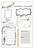Introduce yourself - student worksheet
