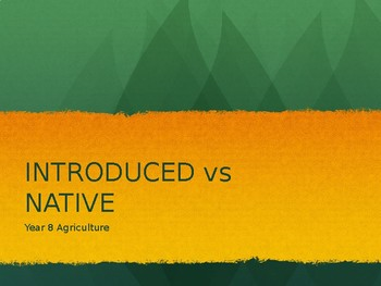 Introduced vs Native TRIVIA!