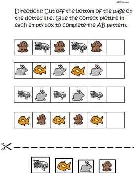 Introducing AB Patterns Unit; Colors, Pictures, Shapes; Boardmaker
