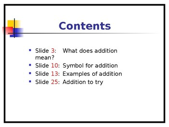 Introducing Addition - Slide Show