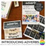 Introducing Adverbs - Powerpoint + Poster + Foldable
