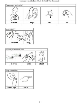 Introducing American Sign Language to Health Care Professionals