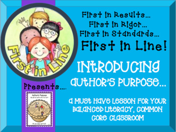 Introducing Author's Purpose in your Balanced Literacy Common Core Classroom