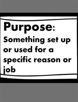 Introducing Author's Purpose Mini-Unit