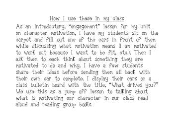 Introducing Character Motivation Activity ~ 3rd Grade ELA CCSS