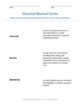 Written Assessment for teaching  Classical Music to Young Listeners